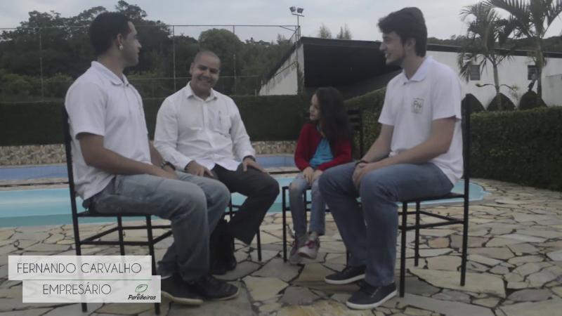 Repórter Mirim entrevista os responsáveis do evento Fontes de Negócios - Folha de Parelheiros